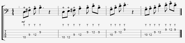 bass tapping exercise 2